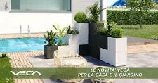 Vaso Fioriera Matheria da 100cm design moderno con riserva d'acqua vari colori
