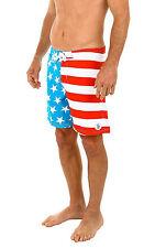 bcaced7f19 MEN'S American FLAG SWIM TRUNK BOARD SHORTS Premium USA Colors Captain  America