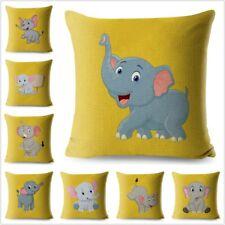 Cartoon Cute Elephant Pillow Case Decorative Printed Cushion Cover for Sofa Home