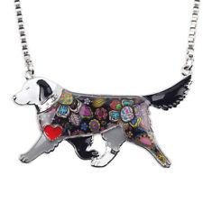 Cute Enamel  Golden retriever Labrador Dog Jewellery Pendant Animal Pet Necklace