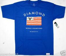 Diamond Supply Co. T Shirt Founders Tee Royal Blue 100%  Cotton Diamond Supply
