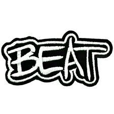BEAT PATCH TOPPA MUSICA COLLEGE CARTOON PATCHES NERO BIANCO 3/85