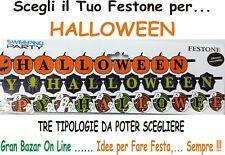 HALLOWEEN STRISCIONE FESTONE GIGANTE IN CARTA PATINATA 3 MODELLi 3 mt PARTY FEST