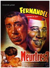 Meurtres? Fernandel vintage movie poster