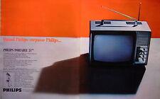 PUBLICITÉ DE PRESSE 1968 TELEVISEUR PHILIPS PORTABLE 31 CM - ADVERTISING