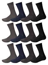 12 Pares de Calcetines para Hombre Suave De Algodón Vestido informal Traje Calcetines Negro Argyle Surtido &