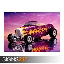 1932 FORD Hi Ragazzo Roadster (0817) Auto Poster-Poster Arte Stampa A0 A1 A2 A3 A4