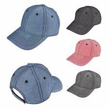 DALIX Premium Baseball Cap Hat in Grey Navy Red Black