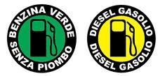 2 ADESIVO STICKERS DECAL TAPPO BENZINA DIESEL GASOLIO AUTO MOTO SERBATOIO