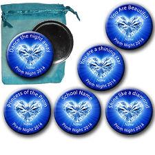 Prom Blue Heart Diamond Handbag/Pocket/Lipstick/Make-up Mirrors 58mm-Gift Favour