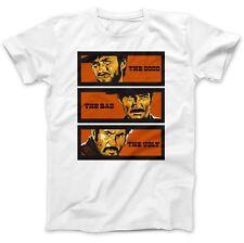 Il BUONO IL BRUTTO & IL BRUTTO T-shirt 100% Cotone Premium Clint Eastwood