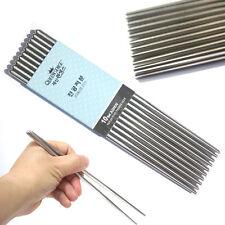 Vacuum Stainless Steel hollow Chopsticks (10 Pairs, 20 Pairs) / Korean Kitchen