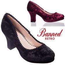 Banned Apparel Honey Hush Vintage Velvet Mary Jane 50s Heels