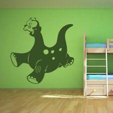 Cartone Animato Bambini Brontosauro Dinosauro Adesivo Artistico Da Parete
