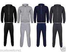Nuevo Para Hombre Polar Completo Jogging chándal cremallera con capucha sudadera con capucha Jogging inferior s-4xl