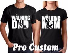 The Walking dad Walking Mom Couple matching funny cute T-Shirts S-5XL