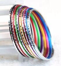 "6.5cm 2.5"" de diámetro círculo aro color Brazalete Pulsera Encanto De Aluminio De Regalo B22"