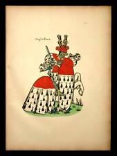 JEAN DE ROUBAIX Heraldique armoiries equestre