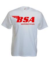 Tee-shirt BSA logo, moto anglaise, vintage, biker, motard, S, M, L, XL, NEUF