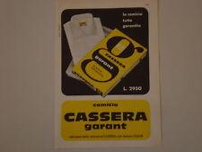 advertising Pubblicità 1959 CAMICIA CASSERA GARANT