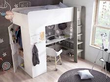 Hochbett Mike Kinderbett Jugendbett Bett mit Schreibtisch und Schrank!