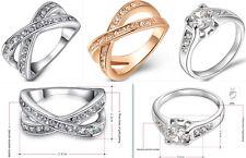Design-Ring-Edel Ring-Zirkonia Weißgold plattiert