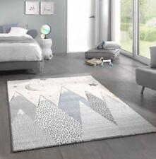 Tappeto per bambini tappeto con montagne in crema grigio blu