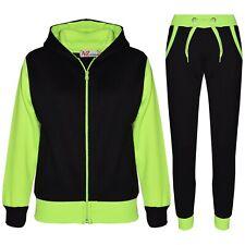 e3f0dea892323 Enfants Garçons Survêtement Polaire Capuche Bas Combi Jogging Jogger 2-13 An