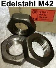Edelstahlmutter Sechskantmutter M42 DIN439 A4 Stahlbau Rostfrei BM42