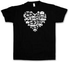 CONTROLLER HEART I T-SHIRT Video Game Konsole NES Evolution Joystick Gamepad