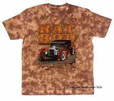 T-Shirt Batik marrone Vintage Auto Sportiva US Car & `50 Motivo Modello Rat Rod