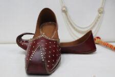 US Mens Leather Shoes Rajasthani Jutti Sherwani Jutti Bridal Wedding Shoes HH206