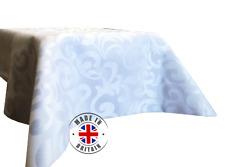 White Jacquard Tablecloth Damask Decorative Napkin Runner Dining Square Round UK