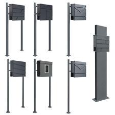 Standbriefkasten Briefkasten Anthrazit Grau Stahl Edelstahl V2Aox Auswahl