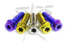Flange Bolt Screw M6 20L 6AL-4V Titanium Grade 5 Hex Torx Star Security New P1.0
