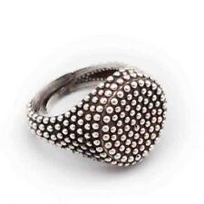 Anello argento 925 massiccio uomo donna modello chevalier puntato gioielli
