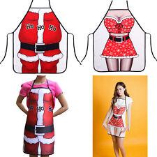 Christmas Gift Cooking BBQ Apron Funny kitchen waist Cloth Santa Xmas