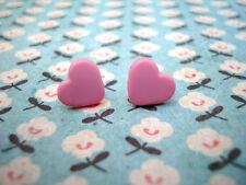 Funky ROSA Mini Cuore Orecchini Carino Kitsch Stile Vintage AMORE EMO bambine divertente regalo