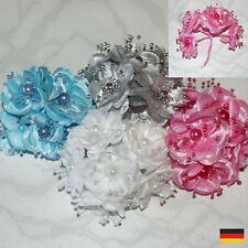 Farbwahl ~ 12 St. KUNSTROSE MIT STIEL Deko Rose Hochzeit Floristik Blüten