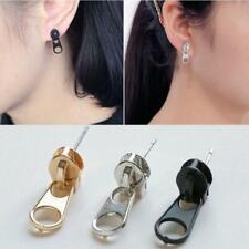 2x Punk Zip 1 Pair Zipper Stainless Steel Ear Stud Earrings Fancy Dress Earring