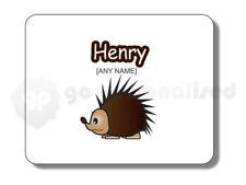 Tappetino mouse personalizzato Mousemat-Riccio Design Tema Animali Qualsiasi Nome Di Qualsiasi Testo