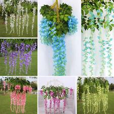 1/3/12x Artificial Trailing Flower Vines Leaf Garland Plants Vine Foliage Garden