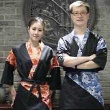 Unisex Japanese Chef Uniform Jackets Coat Restaurant Bar Waiter Sushi Work Wear