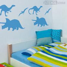 Dinosaur STENCIL Set for decorating Children's room or nursery. Reusable 10065