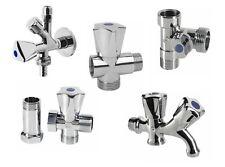 Kombieckventil Geräteventil, 3-Wege Durchgangsventil Wasserhahn Kugelhahn Chrom