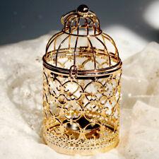Candle Holder Birdcage Metal Tealight Lanterns Electroplated Process