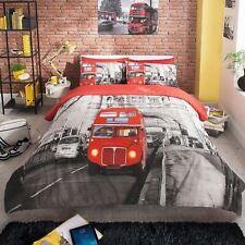 Solo Doble Y King Size duvet covers Modern London Autobús Rojo Ropa De Cama Nuevo