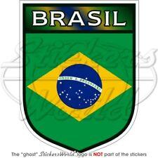 "BRAZIL Brazilian BRASIL Brasilian Shield 100mm (4"") Vinyl Bumper Sticker-Decal"