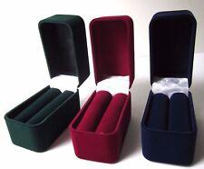 Luxury Velvet BANGLE Jewellery Gift Box Burgundy Blue Green-RF16-Top Quality