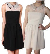 Querida Ellen Perla Collar Vestido S-XL UK 10-16 PVP 85 Negro/Crema bastante